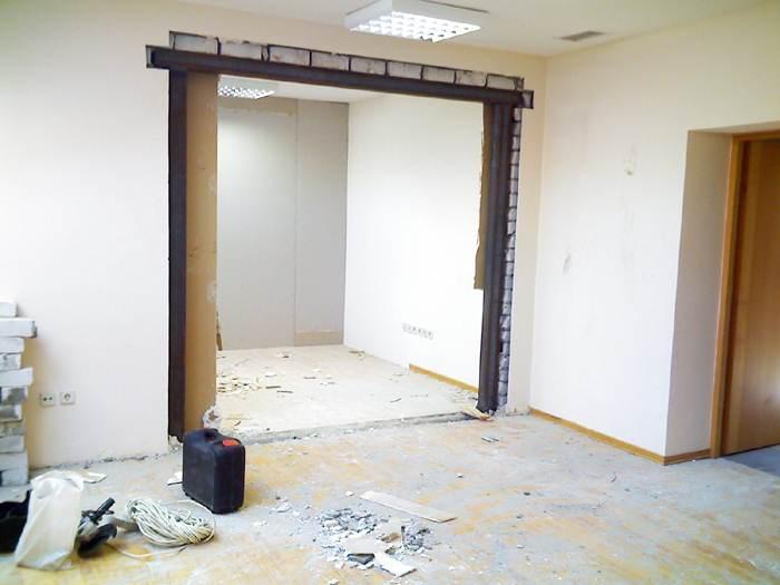 увеличение высоты дверного проема в кирпичной стене